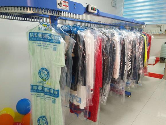 干洗店加盟案例:洁希亚国际洗衣西大街店开业盛况